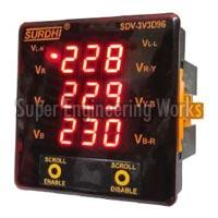 Digital Voltmeter (3 Phase on 3 Display)