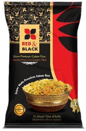 Red & Black Sortex Colom Rice