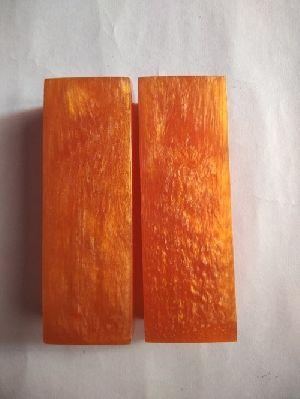 Acrylic Candy Orange Knife Scales RM RH 05