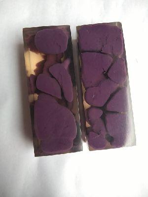 Acrylic Purple & Clear Knife Scales RM RH 01