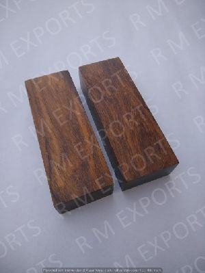 Stabilized Sheesham Wood Flat Knife Scales RM SW 06