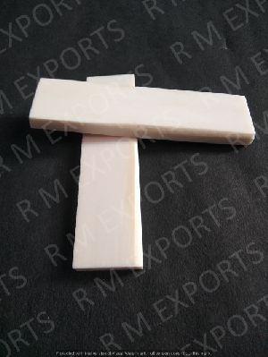 White Smooth Bone Unpolished Flat Scales