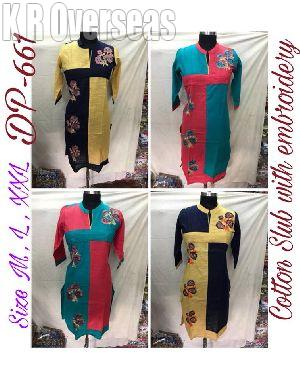 Ladies Kurti in Cotton Slub