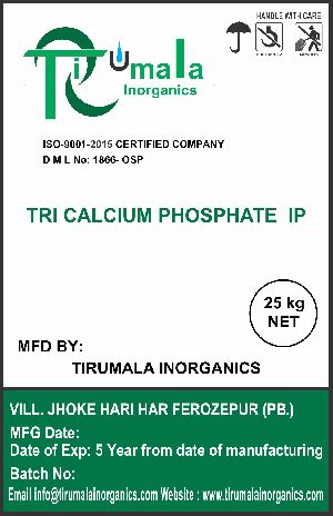 Tribasic Calcium Phosphate IP