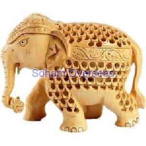 Elephant Wooden Statue