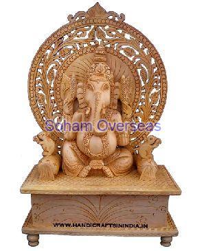 Ganesh Wooden Statue