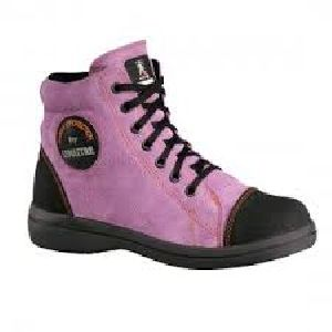 Leopard High Ankle Safety Shoes