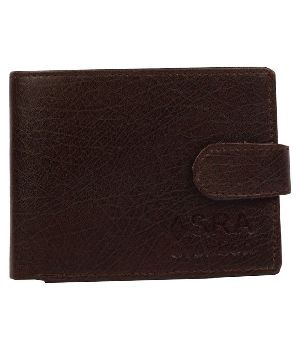 SKU-ACW-3 ASRA Creation Leather Black Wallet