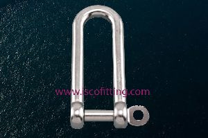 Long D Shackle with Captive Pin