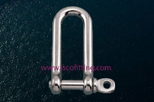 Long D Shackle with Screw Pin