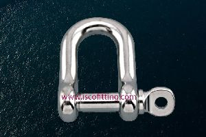 Stainless Steel Straight D Shackle with Screw Pin