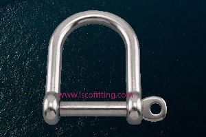 Stainless Steel Screw Pin Wide D Shackles