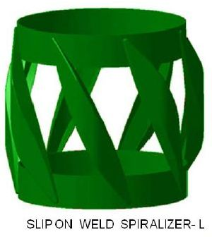 Slip-On Weld Spiralizer Centralizer-L