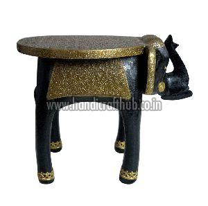 12 Inches Wooden Elephant Stool