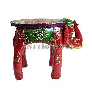 15 Inches Wooden Elephant Stool