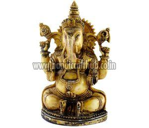 Handmade Antique Resin Lord Ganesha Statues