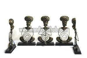 Set of Five Rajasthani Musician Statue
