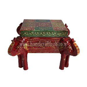 Wooden Multicolor Handcrafted Elephant Shaped Dry Fruit Boxes