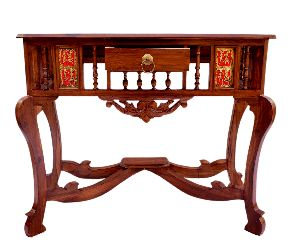 Wooden Dhokra Art Tables