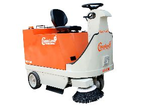 Battery Operated Sweeping Machine for Parking