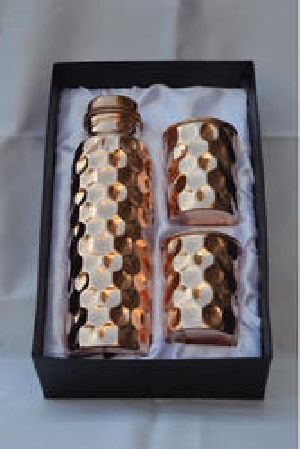 Copper Diamond Bottle & Tumbler Set