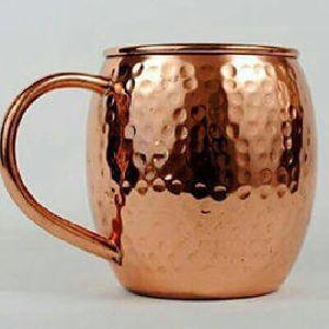 Hammered Barrel Copper Mug