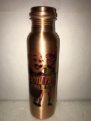 Motu Patlu Print Copper Bottle