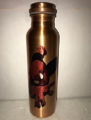Spiderman Print Copper Bottle