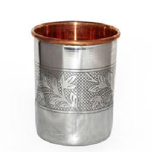 Copper Steel Embossed Tumbler