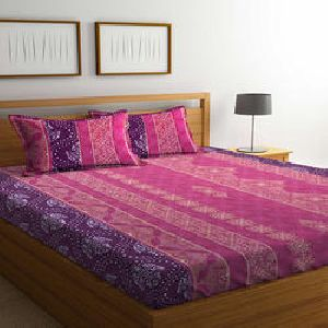 Bombay Dyeing Mimosa Cotton Double Bedsheet Set