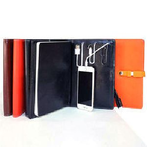 Diary Power Bank & Pen Drive Set