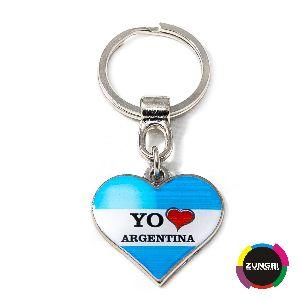 Llavero Corazon Customized Metal Keychain