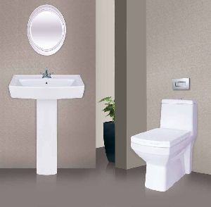 Wash Basin and Commode Set