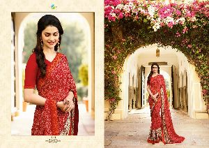 19141 Vinay Starwalk vol 34 Satin Georgette Saree
