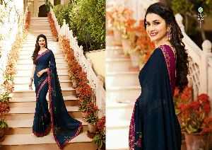 19143 Vinay Starwalk vol 34 Satin Georgette Saree