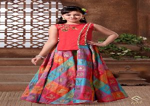 198 Cherry 9 partywear kids Gown