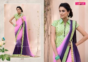 3105  Mintorsi Jashmine Georgette With Fancy Fabric Saree