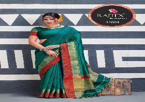42004 Rajtex Kaleera silk nylon silk saree