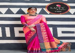 42006 Rajtex Kaleera silk nylon silk saree