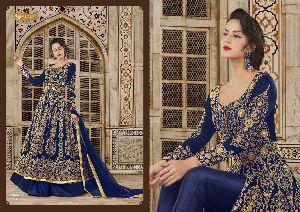 5601 Swagat SnowWhite Voilet 5600 Series Designer Anarkali Salwar Suit