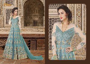 5602 Swagat SnowWhite Voilet 5600 Series Designer Anarkali Salwar Suit