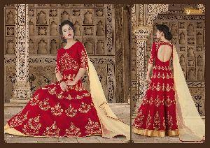 5603 Swagat SnowWhite Voilet 5600 Series Designer Anarkali Salwar Suit