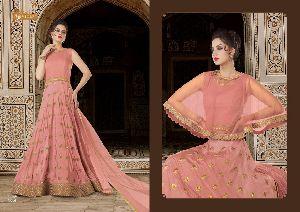 5604 Swagat SnowWhite Voilet 5600 Series Designer Anarkali Salwar Suit