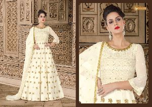 5605 Swagat SnowWhite Voilet 5600 Series Designer Anarkali Salwar Suit