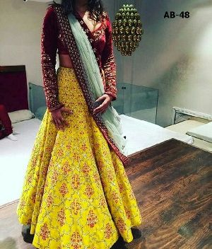 Banglori Silk Full Sleeves Lehenga Choli