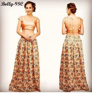 All Over Print Bolly-98C Bhagalpuri Skirts
