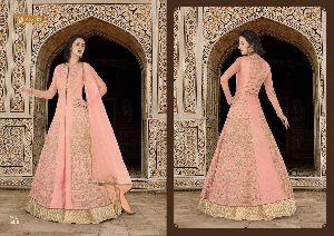 Swagat Snow White Violet 5600 Series Designer Anarkali Long Suits