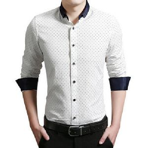Mens White Party Wear Shirt