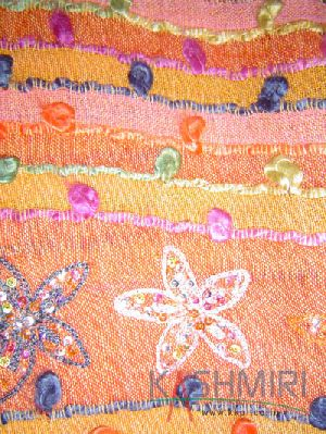Pure Wool Embroidered with Thread & Sequins