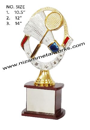 Badminton Metal Trophy